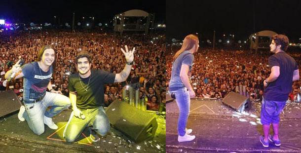 Caio Castro vai ao show da Garota Safada