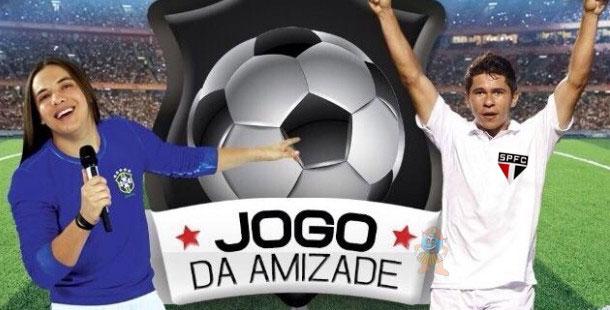 Wesley Safadão e o São Paulinho Osvaldo no Jogo da Amizade