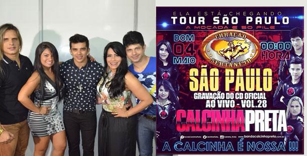 Calcinha Preta anuncia gravação de CD ao vivo em SP