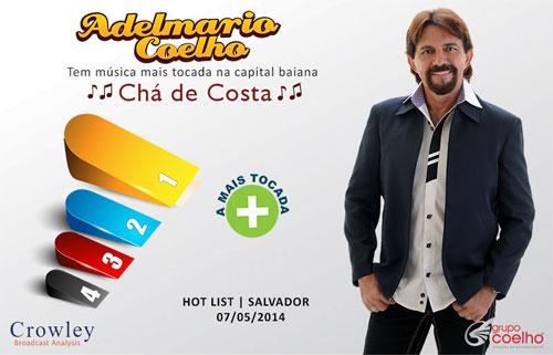 Adelmario Coelho tem música mais tocada da capital baiana