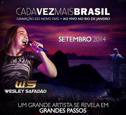 Wesley Safadão anuncia gravação do DVD no Rio de Janeiro
