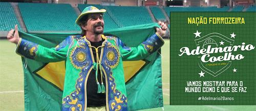 Em ritmo de Copa, Adelmario grava novo clipe na Arena Fonte Nova