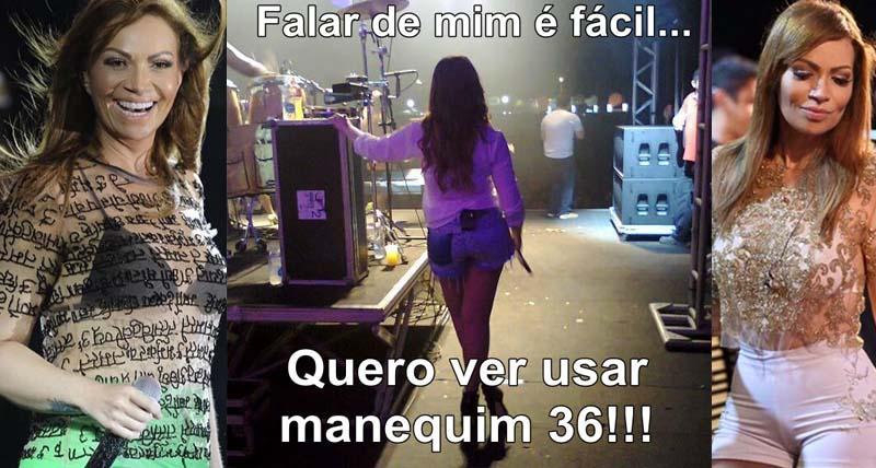 Solange Almeida alfineta 'Quero ver usar manequim 36'