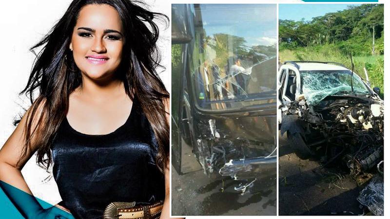 Ônibus da cantora Mara Pavanelly sofre acidente no Piauí
