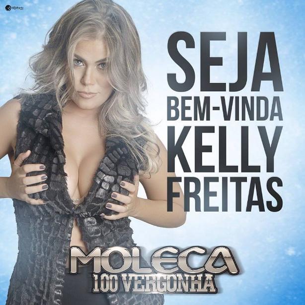 Kelly Freitas agora é Moleca 100 Vergonha