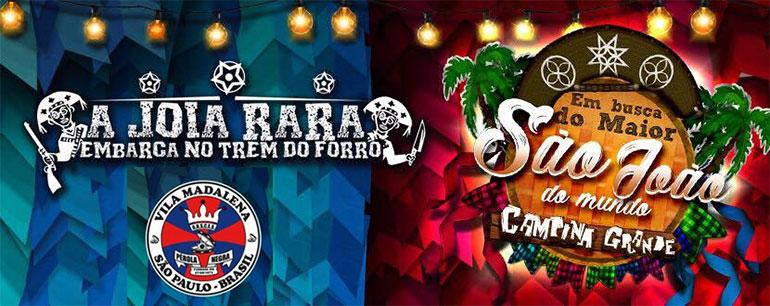 Escola de Samba Pérola Negra de SP, vai homenagear 'O maior São João do Mundo: Campina Grande'