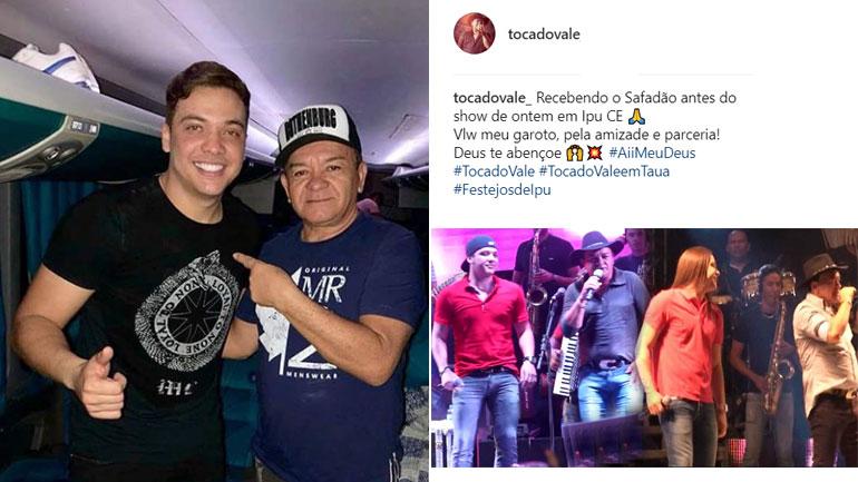 """Toca do Vale recebe Wesley Safadão antes do show e destaca: """"Valeu meu garoto, pela amizade e parceria"""""""