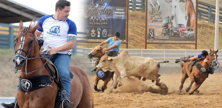 Wesley Safadão derruba bois em competição de vaquejada em Sergipe