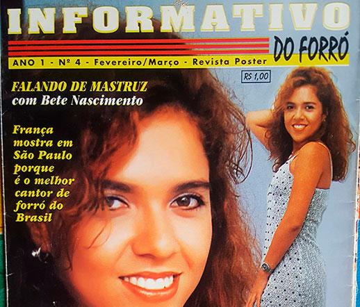 Bete Nascimento foi capa da Revista Informativo do Forró há 20 anos