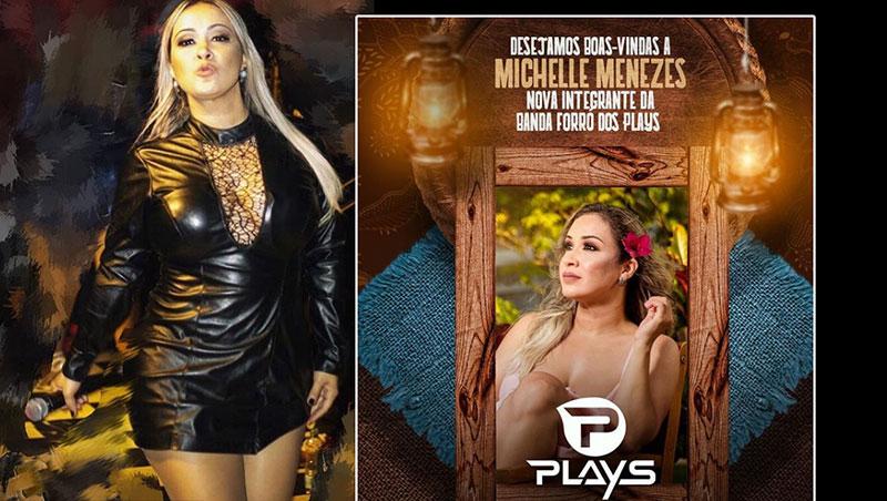 Forró dos Plays anuncia Michelle Menezes como novo vocalista