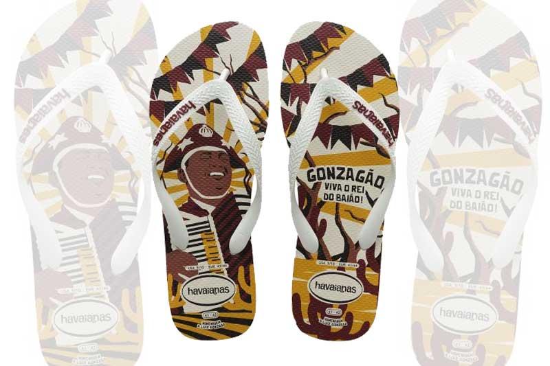 Havaianas Lança sandália em homenagem a Luz Gonzaga o 'Rei do Baião'