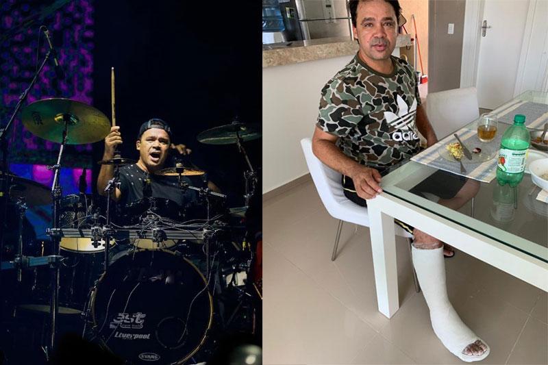 Baterista Riquelme sofre acidente após show e ficará afastado dos palcos