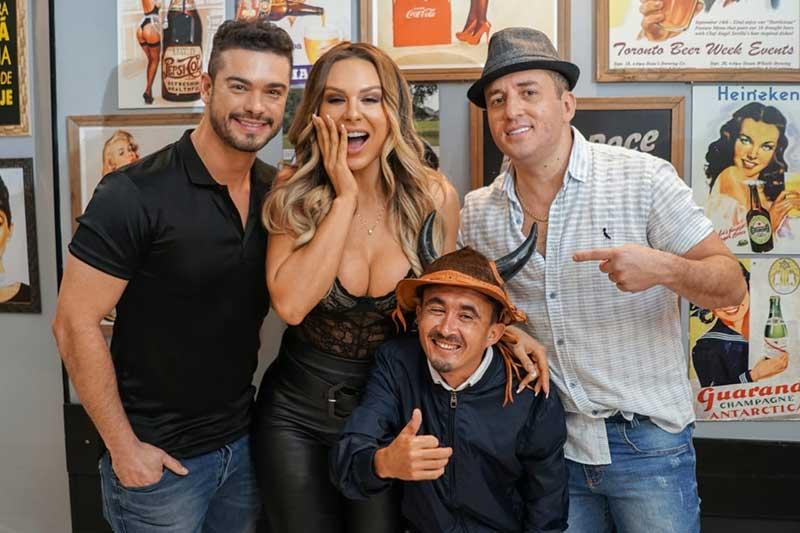 Tony Guerra grava clipe com Mendigata, Sidney Sampaio e Nema Brasil