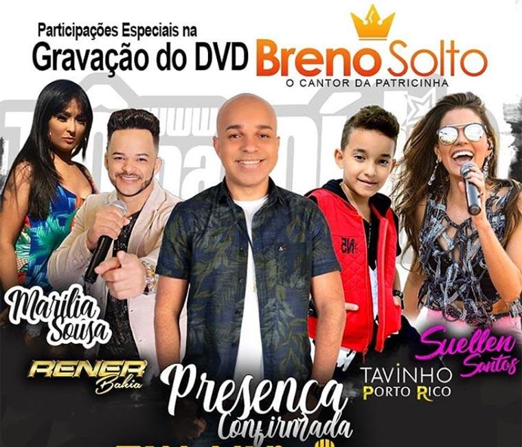 Breno Solto grava do seu DVD no Circo Spacial em São Paulo