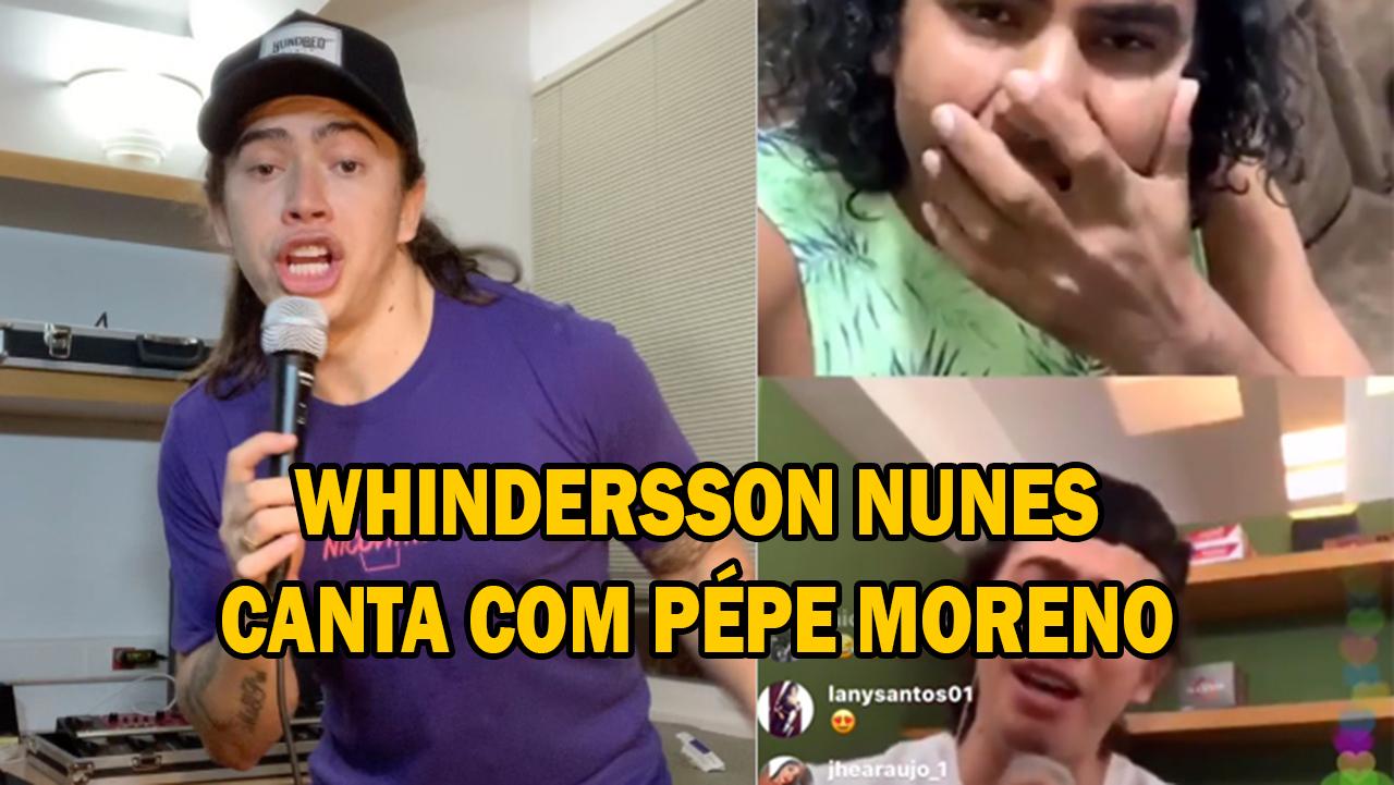 """Whindersson Nunes faz live com Pépe Moreno e canta """"Menino de Rua"""""""