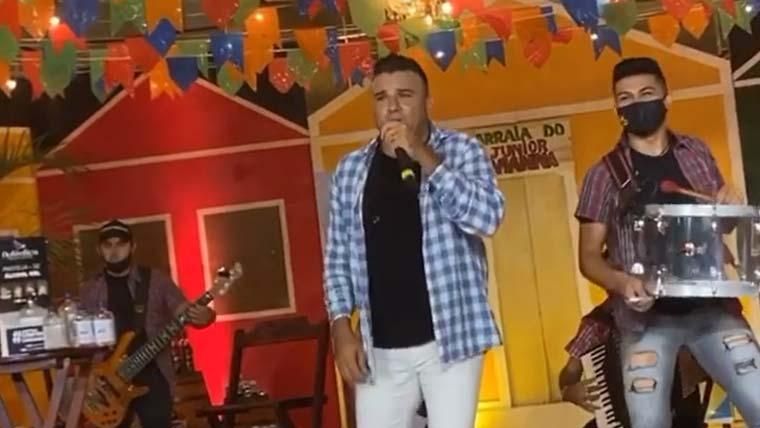 """Junior Vianna fica bêbado na live e solta o verbo: """"Ninguém aguenta mais caral*&%$#@ de live"""""""