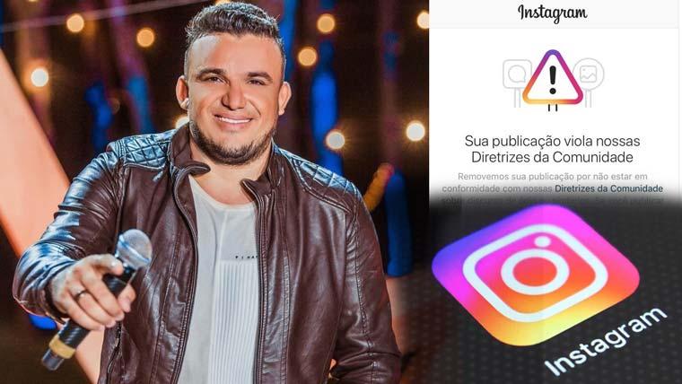 Cantor Junior Vianna tem conta do Instagram derrubada